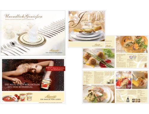 Lacroix Kampagnen + Broschüre