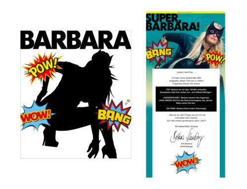 BARBARA 1 JAHR Cover + Emailing